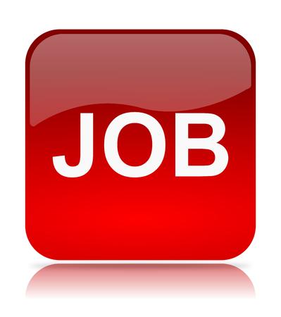 Red Job App Icon Illustration on White Background illustration
