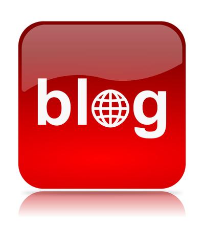Red Blog App Icon Illustration on White Background illustration