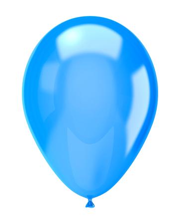 Eine Single-Blau-Ballon isoliert auf weißem Hintergrund Illustration