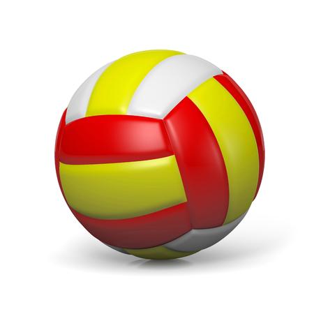 pelota de voley: Volley Ball individual con sombra en blanco 3D ilustración de fondo