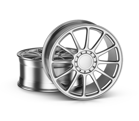 rims: Two Car Rims on White Background