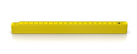 metre: Carpenter Meter on White Background 3D Illustration