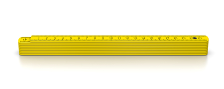 Carpenter Meter on White Background 3D Illustration