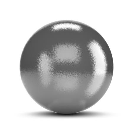 metallic: Metallic Sphere on White Stock Photo