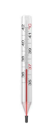 clinical thermometer: Clinical Thermometer Isolated on White Illustration Stock Photo