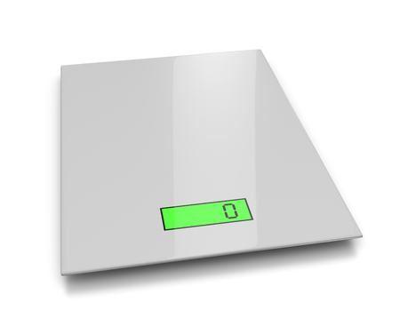 over weight: Electronic Kitchen Scales on White Background 3D Illustration