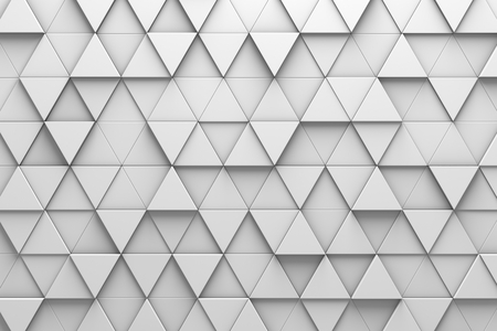 elevate: Wall of Triangle-Shaped Tiles Arranged in Random Height