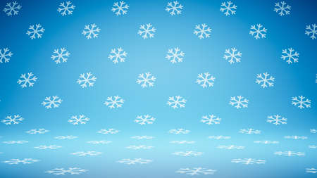 Empty Blank Blue Snowflakes Pattern Studio Background