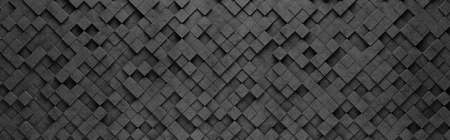 Small Black Squares 3D Pattern Background