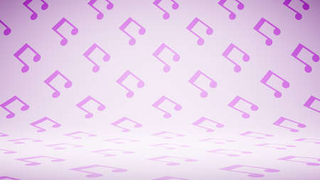 Empty Blank Musical Notes Shape Pattern Studio Background