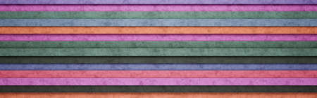 Colorful Horizontal Stripes 3D Pattern Background