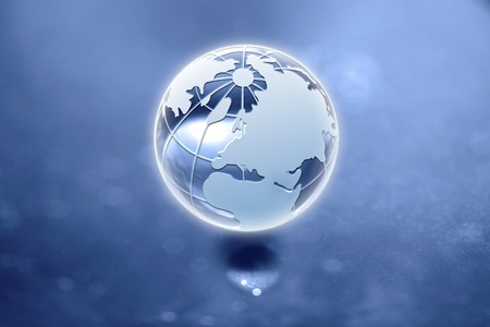 The globe is incredible, fantastic composition and atmosphere Stock Photo - 9103353