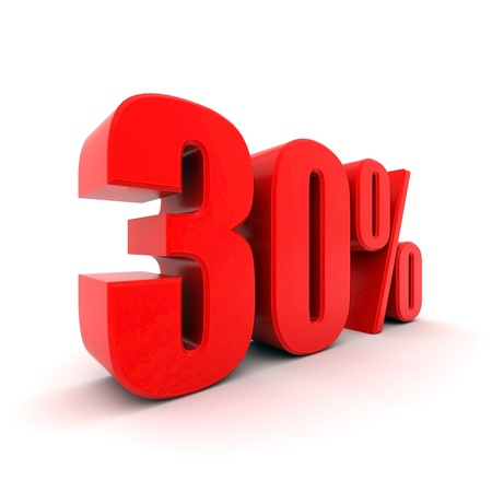 3D image of the text of a big sale