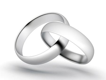 beautiful image, gold wedding rings Stock Photo - 10012844