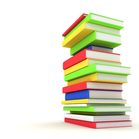 secondary schools: Picture pages,  Books bindings and Literature Stock Photo