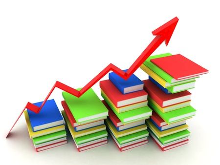 college building: Picture pages,  Books bindings and Literature Stock Photo