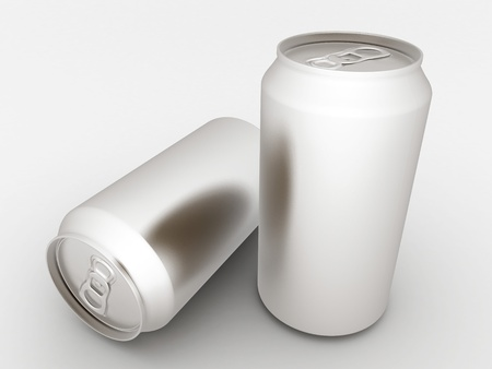 Image sealed aluminum can with a drink photo