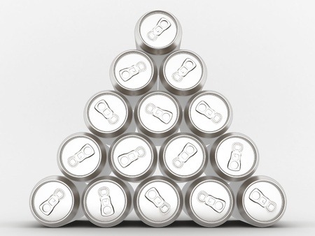 Image sealed aluminum can with a drink Stock Photo - 10172744