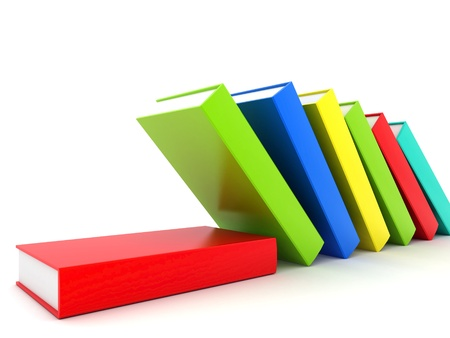 secondary education: Picture pages,  Books bindings and Literature Stock Photo