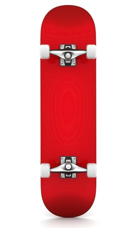 brand new skateboard, pictured on a white background Stock Photo