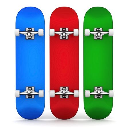 brand new skateboard, pictured on a white background Standard-Bild