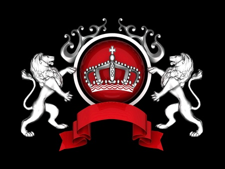 imperial: image of beautiful, ancient emblem of the glossy background