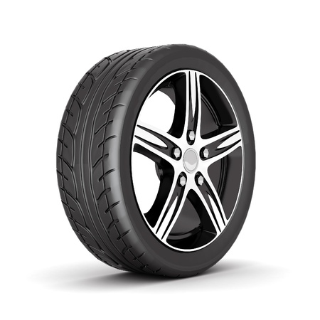 image sport wheels with alloy wheels on a white background Stock Photo - 10337587