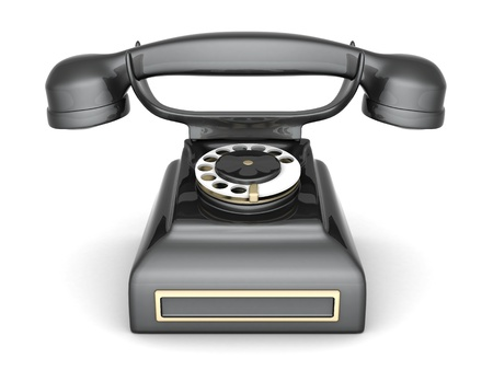 conventional: image of beautiful, old phone on a white background Stock Photo