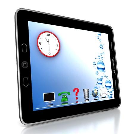 Image de la technologie informatique sur un fond blanc isolé Banque d'images