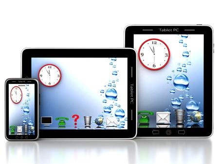 Bild von Computer-Technologie auf einem weißen Hintergrund