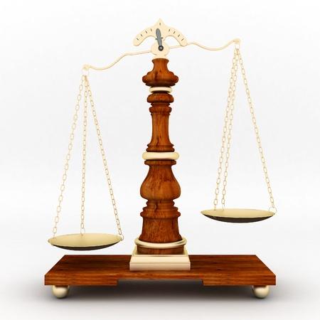 schöne Bild der justiziellen Attribute auf weißem Hintergrund