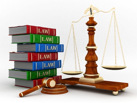 beautiful image of judicial attributes on a white background Stock Photo - 10407864
