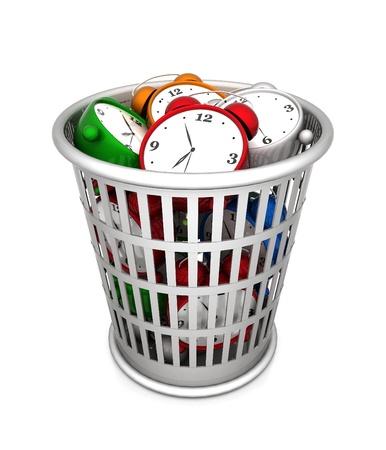 failed strategy: image waste baskets on a white background Stock Photo