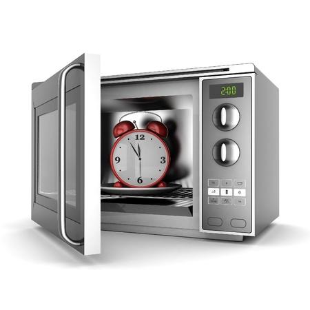 microwave oven: Imagen del horno microondas sobre un fondo blanco