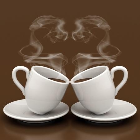 Foto Tassen Tee mit Zucker, gemacht?? In den frühen Morgenstunden