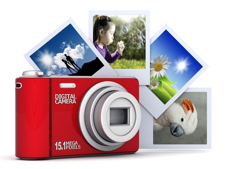 Digital camera image on white background Stock Photo - 10446738