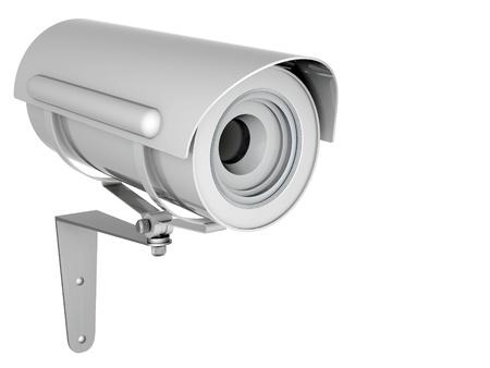 Kamera-Bild auf weißem Hintergrund