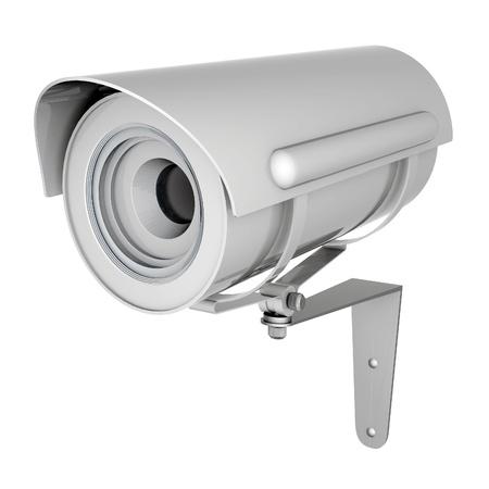 Camera image on white background Stock Photo