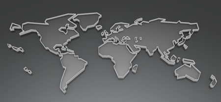 Picture a world map on a white background photo