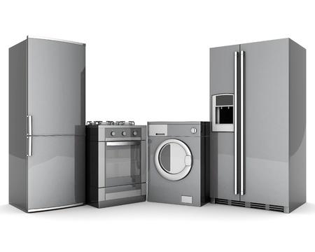 imagen de electrodomésticos sobre un fondo blanco