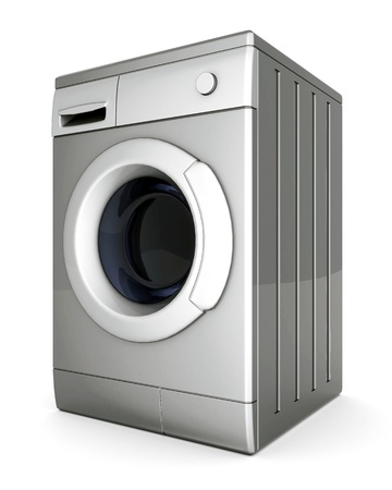 household objects equipment: picture of washing machine on a white background