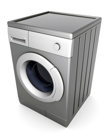 picture of washing machine on a white background Stock Photo - 10539705