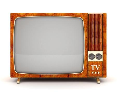 image de vieux téléviseur sur un fond blanc