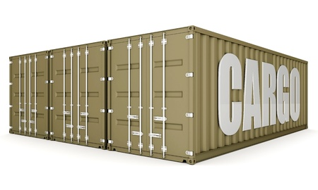 merchandize: image of the shipping container on a white background
