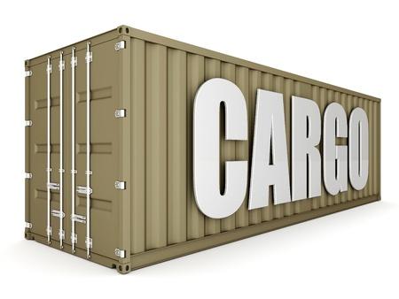 Bild der Transportbehälter auf einem weißen Hintergrund Lizenzfreie Bilder