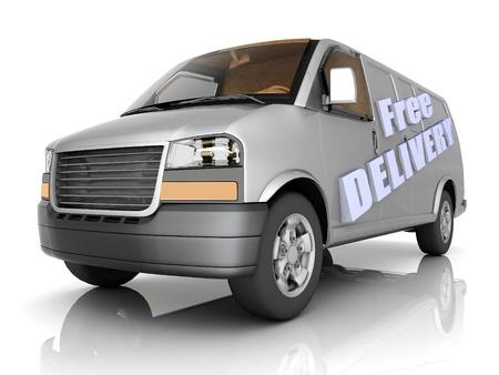 Bild Lieferfahrzeug auf weißem Hintergrund