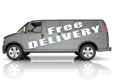 image delivery vehicle on a white background Stock Photo - 10554991
