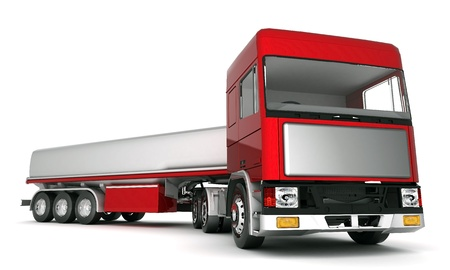 semitrailer: image truck with cargo on a white background