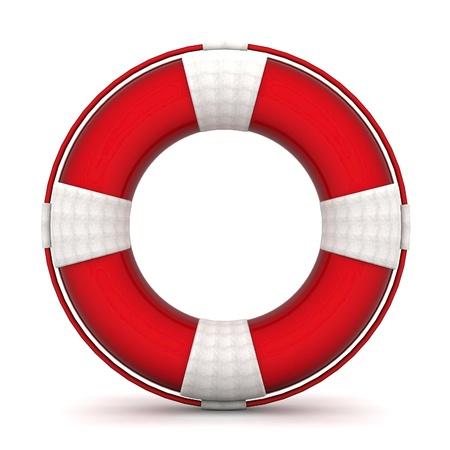 lifebuoy: The image of a life buoy on a white background Stock Photo