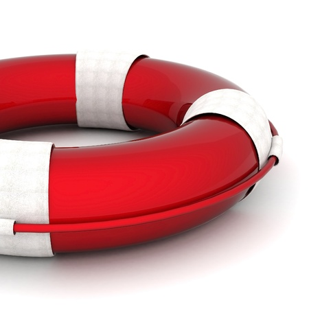 The image of a life buoy on a white background Stock Photo